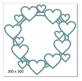 Multi heart frame  300 x 300 mm